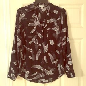 Bulk/Gry Floral EXPRESS Portifino Blouse SMALL